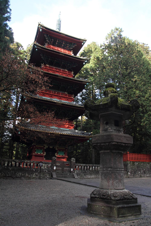 Pagoda de cinco pisos a la entrada de Toshogu, en Nikko