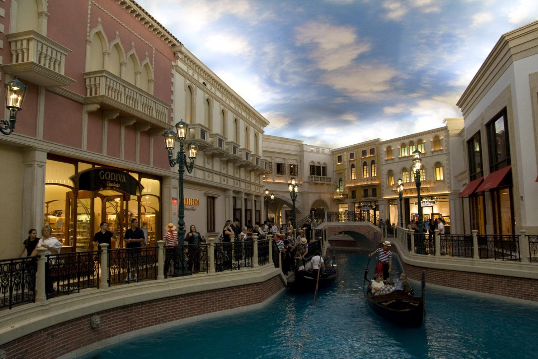 Interior del hotel y casino The Venetian en Las Vegas