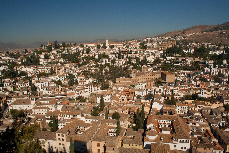 El Albaicín de Granada, visto desde la Alhambra