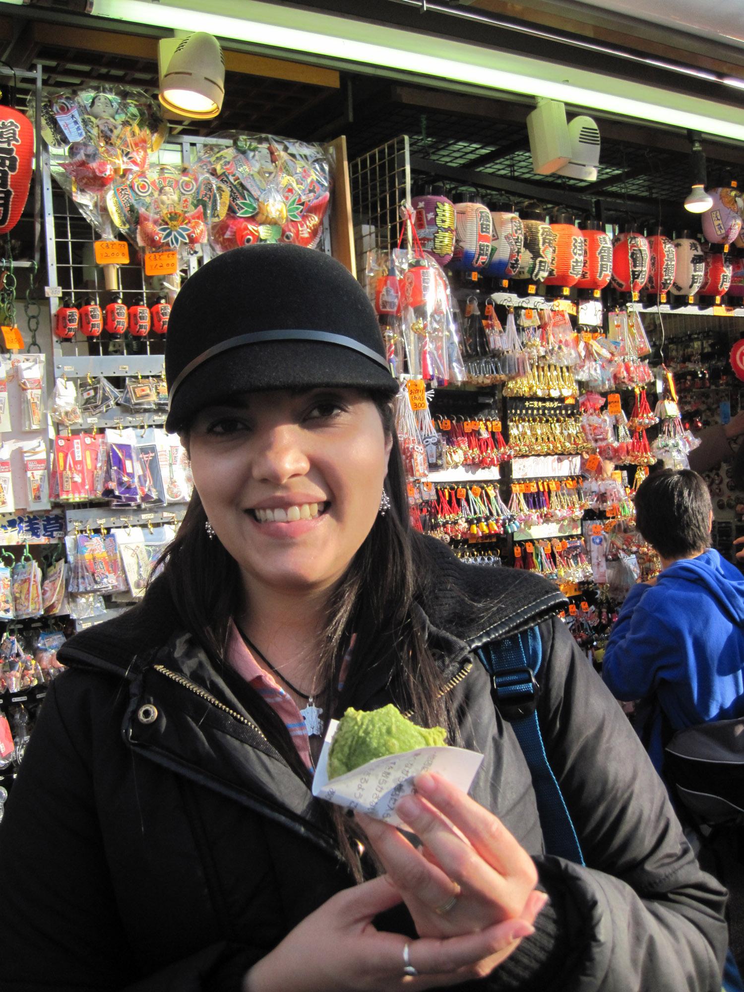 Dumpling de té verde en Asakusa