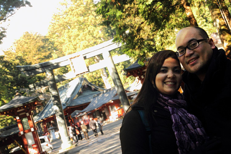 Natalie y yo en Nikko, Japón