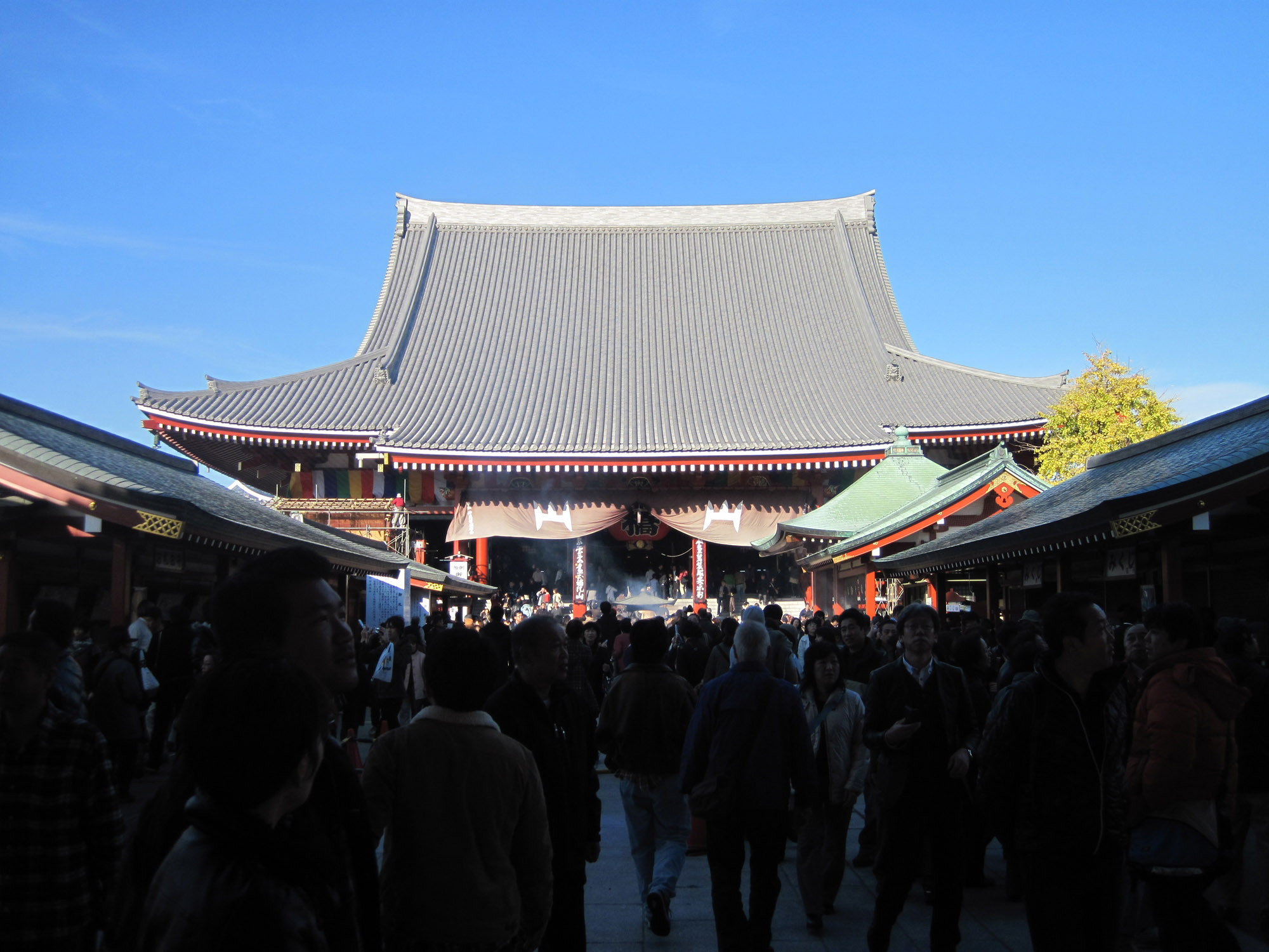 Vista del templo Senso-ji