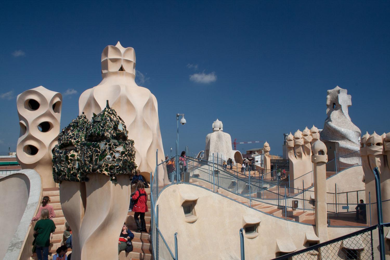 Azotea de La Pedrera o Casa Milà, en Barcelona