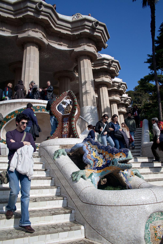 Salamandra o dragón del Parque Güell, en Barcelona