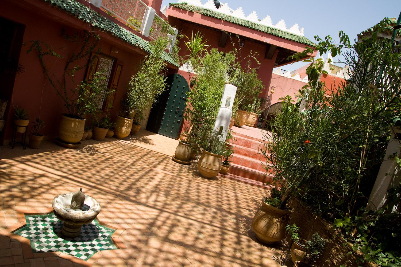 La terraza de la Maison d'Hôtes Riad Bahia - Meknès, Marruecos