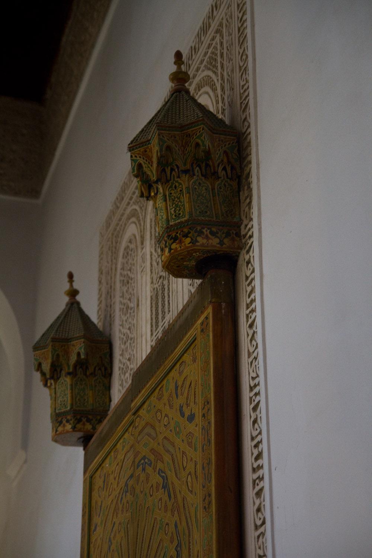Detalle de las paredes del interior del Maysoleo de Moulay Ismail - Meknès, Marruecos