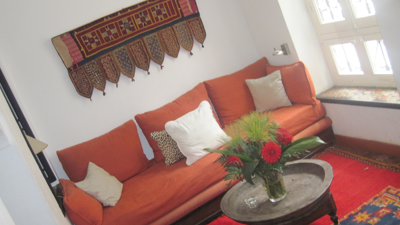 Sala de descanso en La Tangerina - Tánger, Marruecos