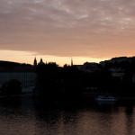 Castillo de Praga y río Moldava, República Checa