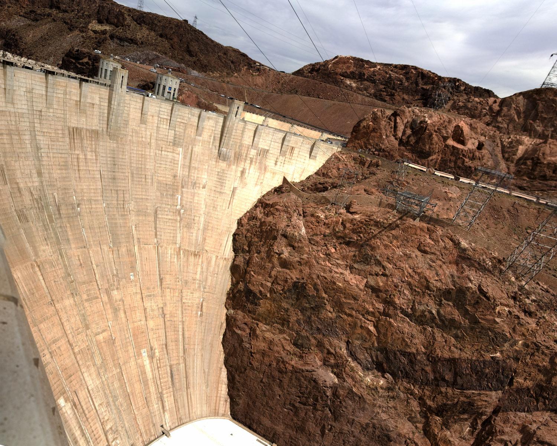 Vista general de la represa Hoover