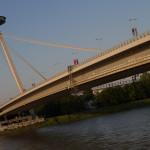 Puente nuevo sobre el Danubio, Bratislava, Eslovaquia