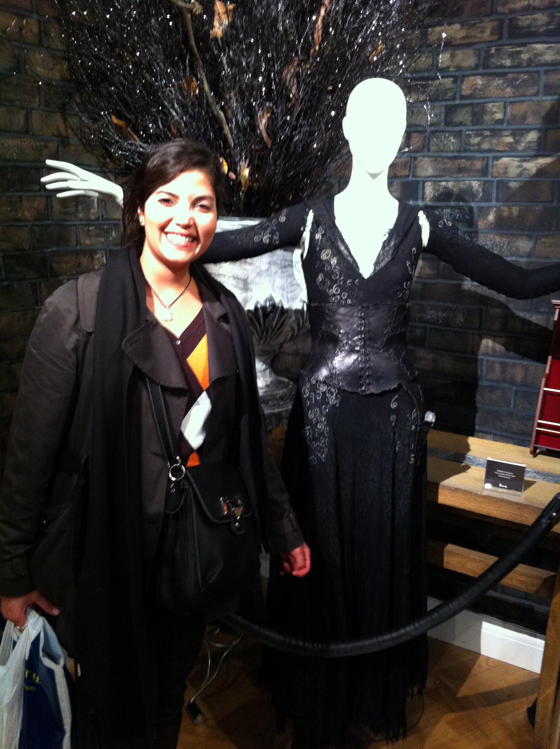 Atuendo de Bellatrix Lestrange en Harrods