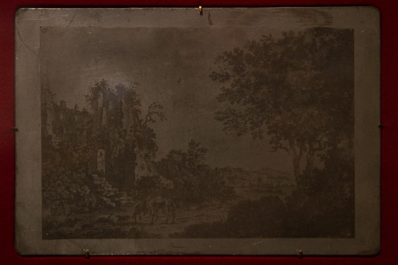 Impresión a partir de una heliografía en el museo Nicéphore Nièpce, Chalon-sur-Saône, Francia