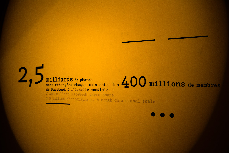 Datos sobre el intercambio de fotos en Facebook en el Museo Niépce en Chalon-sur-Saône, Francia