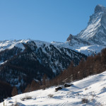 El Matterhorn o Cervino visto desde Zermatt, Suiza