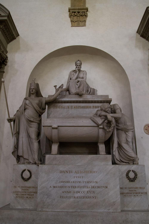 Cenotafio de Dante en la Santa Croce, Florencia