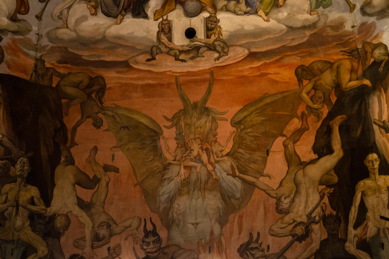Detalle del interior de la cúpula del Duomo de Florencia