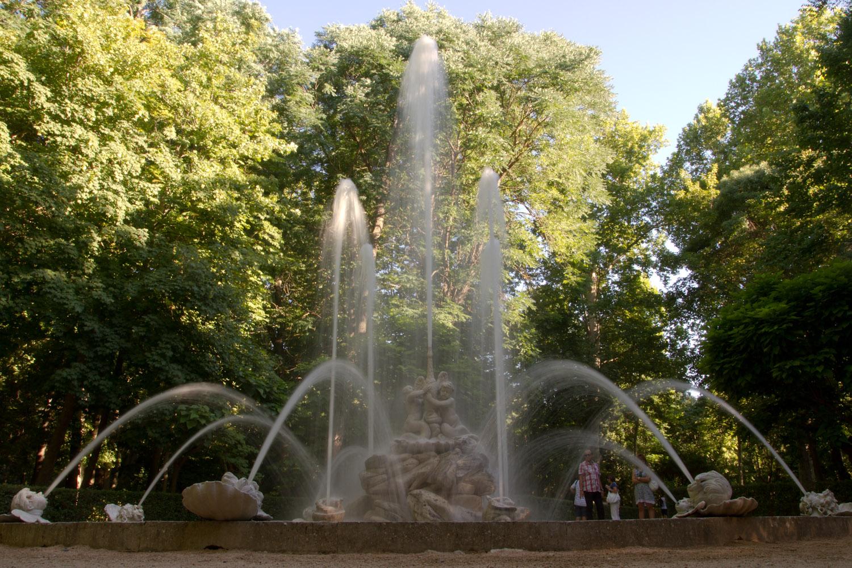 La fuente de los cisnes de los jardines del pr ncipe en for Los jardines de aranjuez