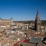 Panorámica del centro histórico de Toledo, España