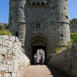 Entrada al Castillo de Carisbrooke, Isla de Wight, Reino Unido