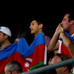 Fans de Azerbaiyán apoyando a sus luchadores en las Olimpiadas de Londres 2012