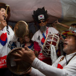 Celebración surcoreana en las Olimpiadas de Londres 2012