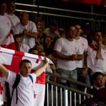Fans de Georgia apoyando a sus luchadores en las Olimpiadas de Londres 2012