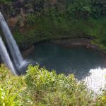 Wailua Falls, en la isla de Kauai, Hawaii, EE.UU.