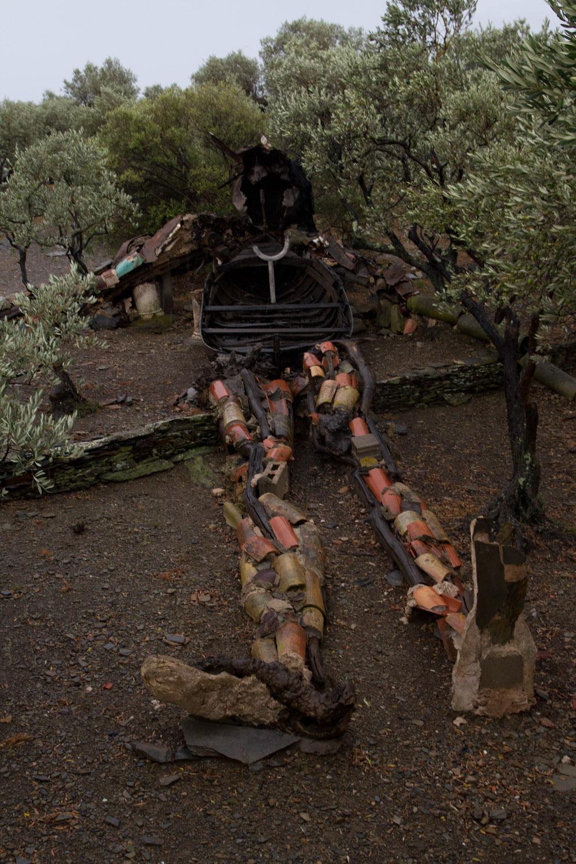 Gigante de escombros en el jardín de la Casa-Museo Dalí en Portlligat, Cadaqués