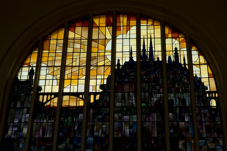 Vitral ena la estación central de Luxemburgo, Luxemburgo