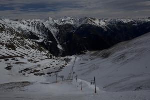 Estación de Arinsal vista desde el Port Negre, Andorra