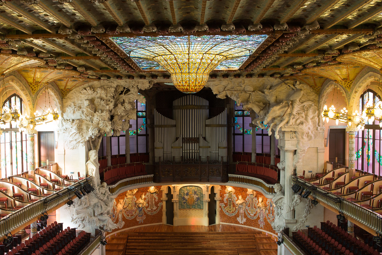 Sala de conciertos del palau de la m sica catalana for Salas de conciertos madrid
