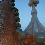 Detalle de la bóveda de la fachada de la Casa Batlló, Barcelona, España