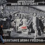 Mural republicano en el muro de la solidaridad, Belfast, Irlanda del Norte