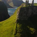 Las ruinas de Dunseverick Castle, Irlanda del Norte