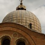 Una de las cúpulas de la Basílica de San Marcos, Venecia, Italia