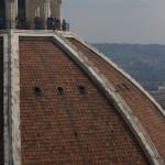 Detalle del exterior de la cúpula del Duomo de Florencia, Italia
