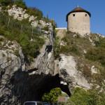 Túnel bajo la torre de la ciudadela, Besanzón, Francia