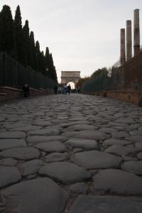 Vía Sacra y Arco de Tito, Roma, Italia