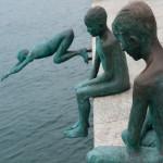 Monumento a los raqueros, Santander, España