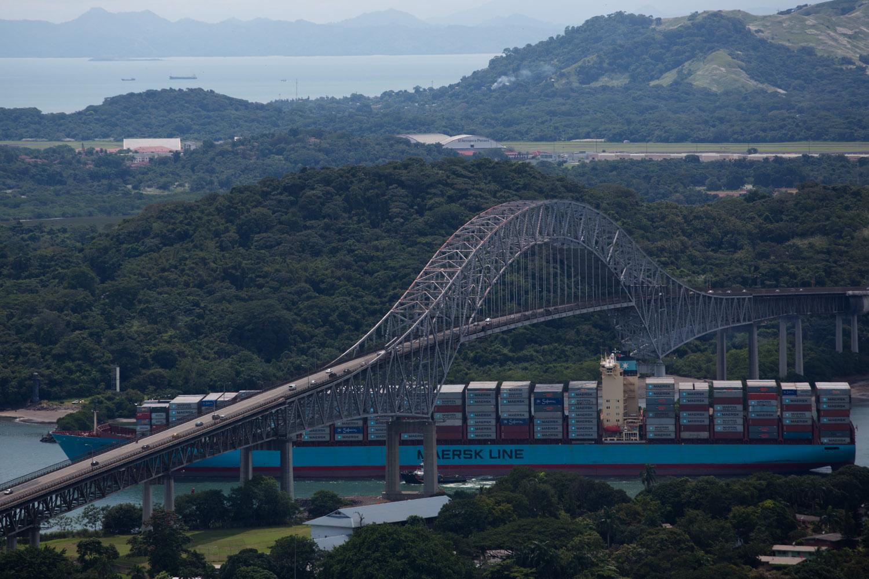 Panorámica del Puente de las Américas, Ciudad de Panamá, Panamá