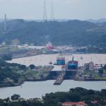 Panorámica de las esclusas de Miraflores y Pedro Miguel, Ciudad de Panamá, Panamá