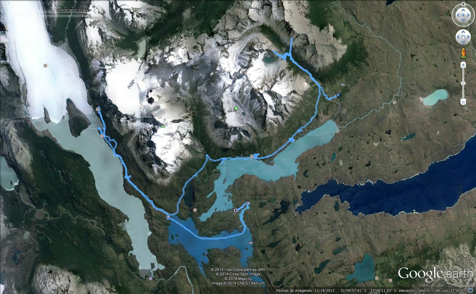 El recorrido de la W en el parque nacional Torres del Paine, Chile