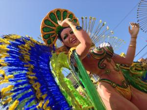 Carroza de carnavales de día en Las Tablas, Panamá