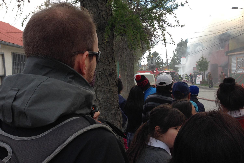 Incendio en Puerto Natales