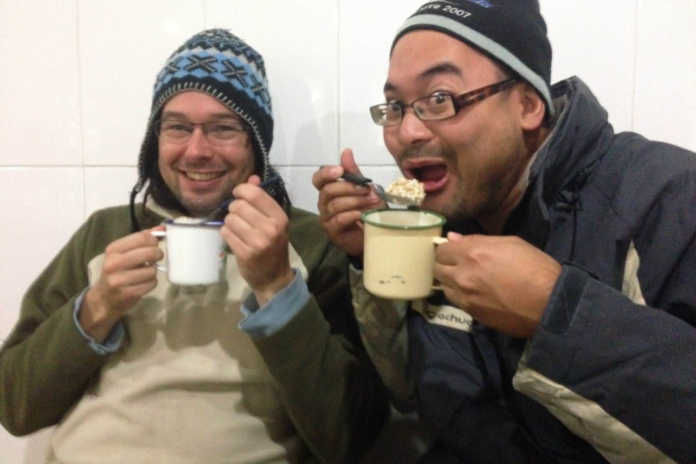 Desayuno en excursión en Torres del Paine, Chile