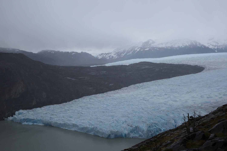 El glaciar Grey desde el mirador Los Guardas, Torres del Paine, Chile