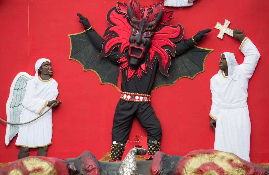 El escenario del 9° Festival de Diablos y Congos en Portobelo