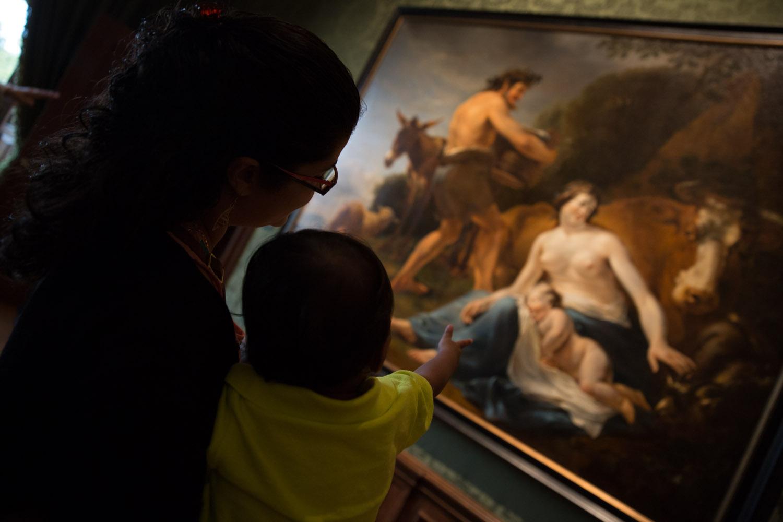 Visitando Mauritshuis con un peque