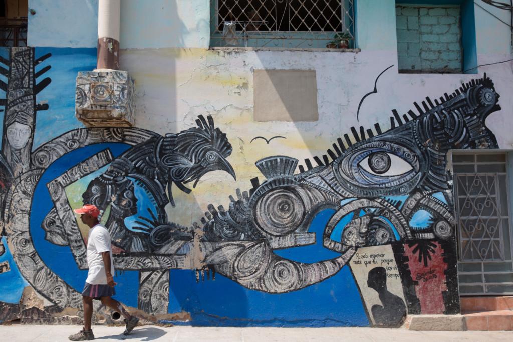 Arte callejero cubano