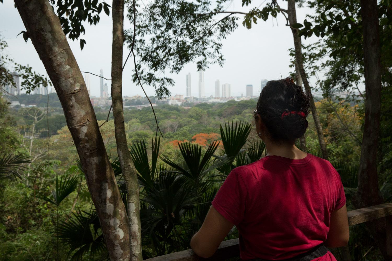 Mirador Los Caobos del Parque Metropolitano de Ciudad de Panamá